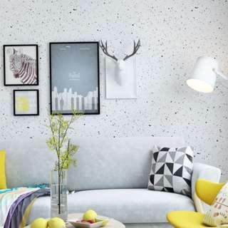 🚚 Scandinavian European Minimalist Nordic Vintage Rustic White Polka Dot Home Wall Living Room Bedroom DIY Decor Wallpaper