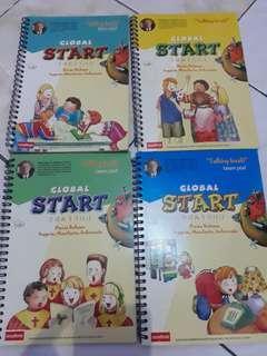 Buku pelajaran GLoBAL START inggris, mandarin, indonesia