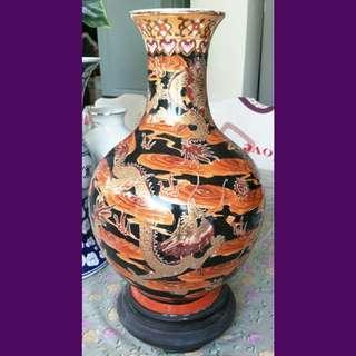 Stunning Porcelain Vase with dragon motifs