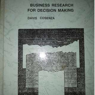Business research for decision making