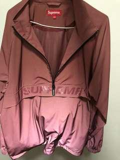 Supreme SS17 reflective half zip pullover