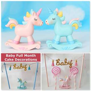 Cute Baby Full Month Cake Toppers