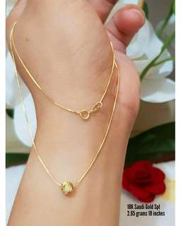 Saudi Gold 18k Necklace (trending/best seller)
