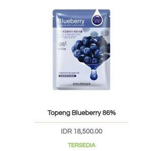 Masker korea rorec blueberry