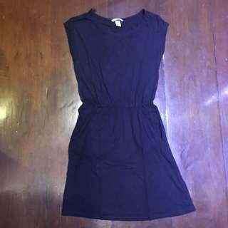 H&M Basic Navy Blue Dress
