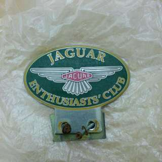 Jaguar Enthusiasts Club Car Badge Vintage