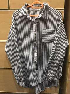 TEM - striped l/s cotton top