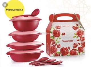 Tupperware BLOOSSOM MICROWAVE SET
