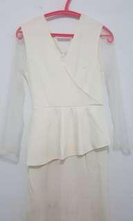 [BARU/SALE] Long Dress by Billy Tjong x Blibli.com - Broken White