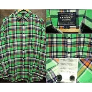 Kemeja Flannel Flanel Brand Uniqlo Original