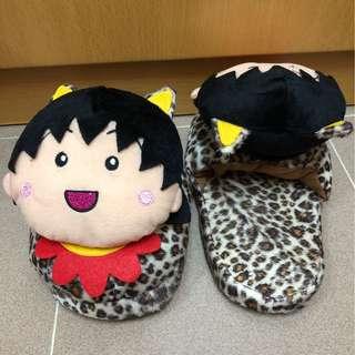 小丸子豹紋拖鞋