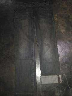 Jeans custom straight fit grey size 32