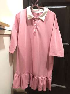 One piece pink blouse