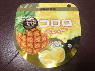 🚚 (現貨)日本UHA味覺糖 沖繩限定 鳳梨口味