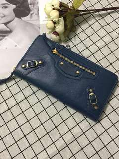 New! Authentic Balenciaga Zip Around wallet