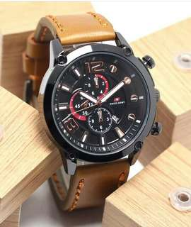 SWISS ARMY CRONOF LEATHER (Jam tangan)