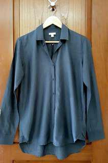 GAP silk blue top