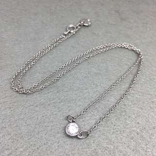 Juicy Couture Sample Necklace 銀色閃石頸鏈 全長48 cm