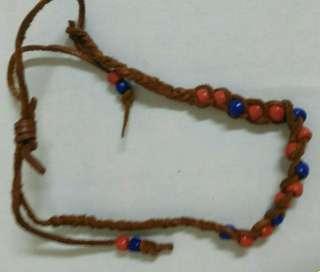 🚚 搬家出清~紅藍皮編綁繩手環