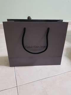 Calvin Klein paper bag