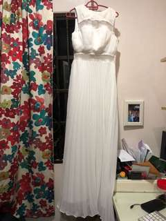 White long evening gown