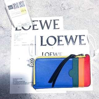 <二手良品> LOEWE Rainbow Coin Card Holder 彩虹零錢包 小卡包