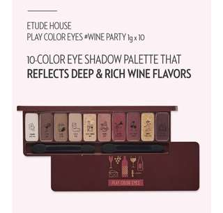 (BNIB) Etude House Play Color Eyes- Wine Party