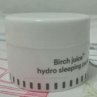 e nature birch juice hydro sleeping pack