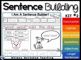 英語教材 Kit #2-3 Sentence Building