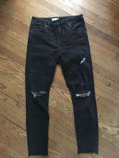 Top shop motto Jamie black jeans