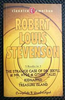 Volume of 3 novels by Robert Louis Stevenson