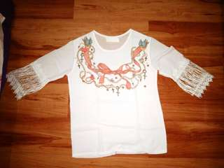 White indian top