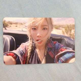 Taeyeon Why Official Photocard Pc Snsd Girls Generation