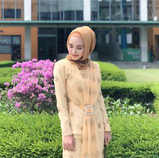 Mastani Kurung Modern (Honey Brown)