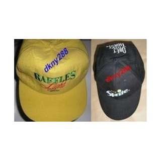 2 Pcs Raffles Light Beer (Lt Yellow) + 1 Pc Sprite Baseball Cap (Black) - New