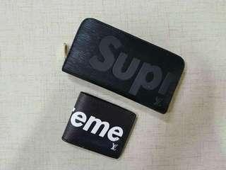 LV supreme purse & wallet couple set 短款