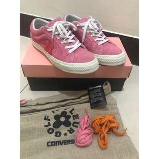 🚚 Converse x Golf LE FLEUR ONE STAR 康威士 粉色 麂皮小花聯名限量二手正品24.5