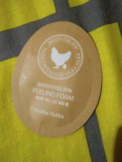 Holika Holika Smooth Egg Skin Peeling Foam Sample