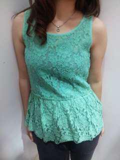 MKo Sleeveless Light Green Top
