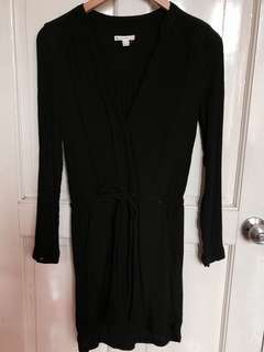 Mango Black Long Sleeve Dress