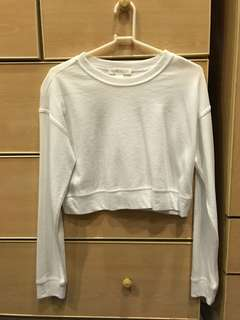 F21 - white knit cropped top
