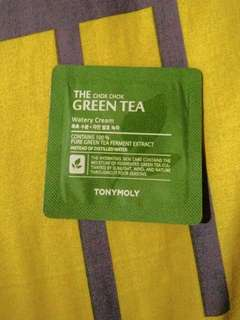 Tony Moly The Chok Chok Green Tea Watery Cream Sample