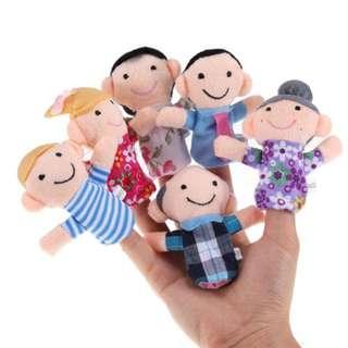 Family finger puppets