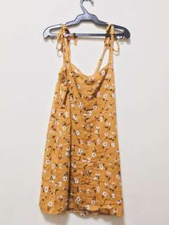 Straight Neck Dress
