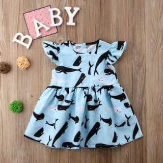 🚚 Newborn Baby Girl Dress Kid Party Pageant Casual Dresses Princess Beach Sundress