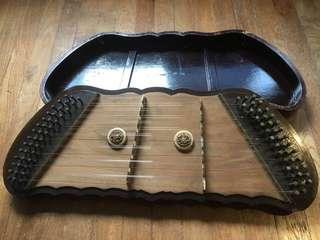 晚清广州金声舘特製十八龙纹象牙扬琴