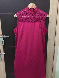 Pink Lace Cheongsam