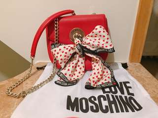 四折 love moschino crossbody bag