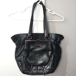 REDUCED Mimco Tote Bag - Leather/Suede, Black
