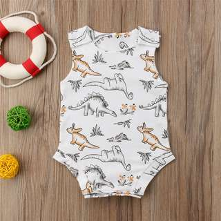 🚚 Toddler Kids Baby Boy Girl Dinosaur Romper Bodysuit Jumpsuit Outfit Clothes dino